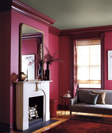 Berry putty burgundy color combinations for your home - Deep burgundy paint color ...