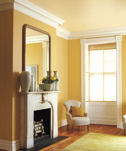Gold butter cream color combinations for your home Wall paint colour combination