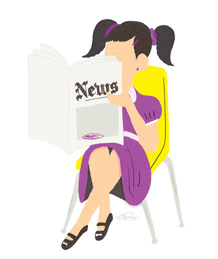 illustration-girl-newspaper