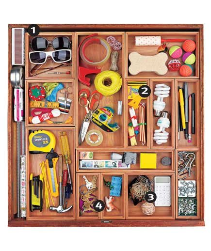 Organization Ideas For Junk Drawers: Storage Ideas For Small Spaces
