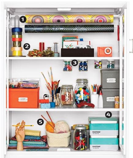 Set up a gift wrap and craft cupboard storage ideas for - Gifts for small apartments ...
