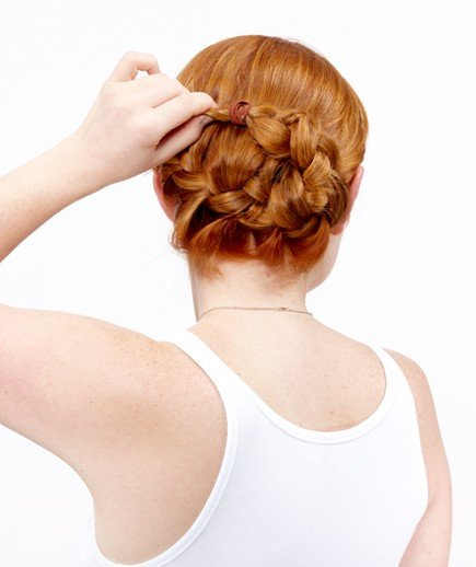 Step 3 | How to Do a Side French Braid Bun - Real Simple