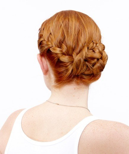 How to Do a Side French Braid Bun - Real Simple