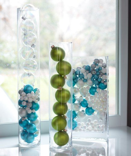 Glass Christmas Balls Decoration Ideas : Simply striking stylish christmas decorating ideas