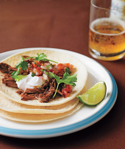 Slow-Cooker Pulled-Pork Tacos | Super Bowl Menu Ideas - Real Simple