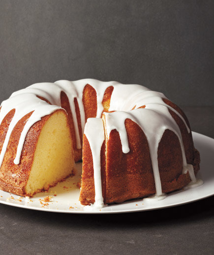 Glazed lemon pound cake easy cake recipes real simple for Easy basic cake recipes from scratch