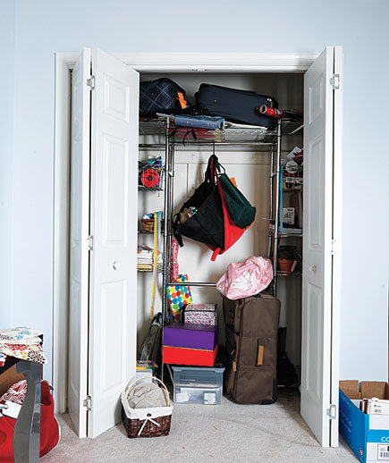 Taking the Closet From Scary to Airy: Before   9 Craft