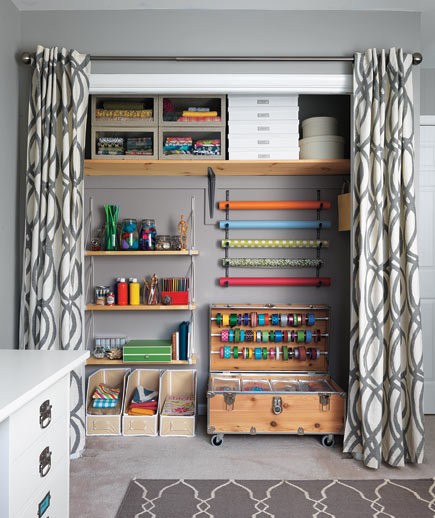 Taking The Closet From Scary To Airy After 9 Craft Room