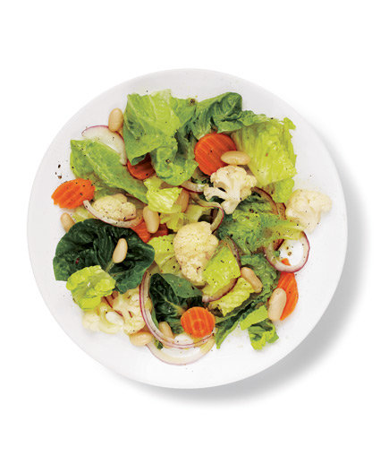 Romaine And Pickled Vegetable Salad Quick And Easy Green