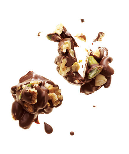 Dark Chocolate and Nut Clusters | 19 Healthy Snack Ideas - Real Simple