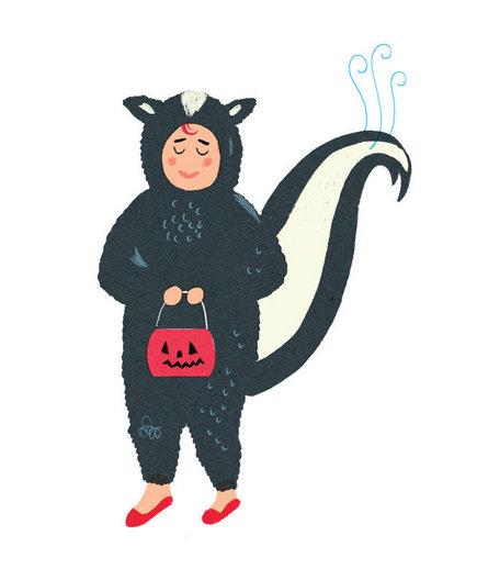 illustration-kid-skunk-costume