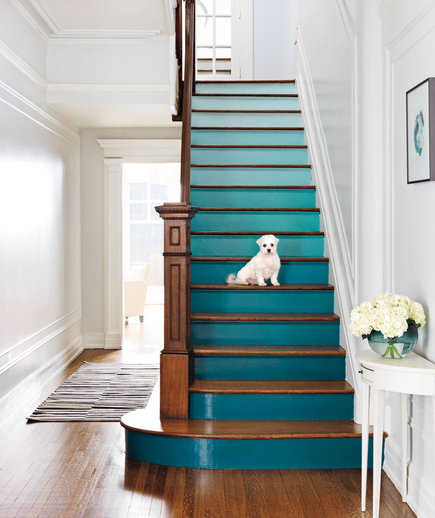 58 Cool Ideas For Decorating Stair Risers: 4 DIY Decorating Ideas For A Staircase