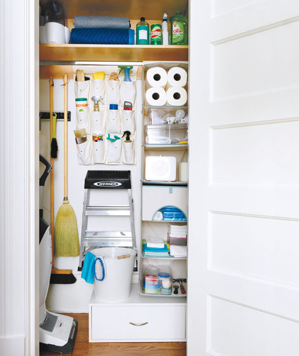 How to organize your utility closet real simple for How to organize your closets