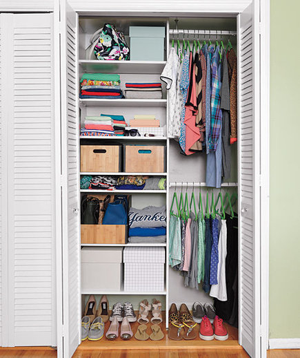 Inspirational closets real simple for How to organize your small bedroom closet
