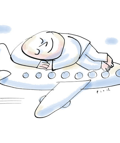 illustration-sleeping-plane