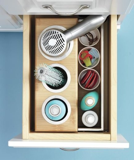 On and off the countertop bathroom storage and for Real simple bathroom ideas