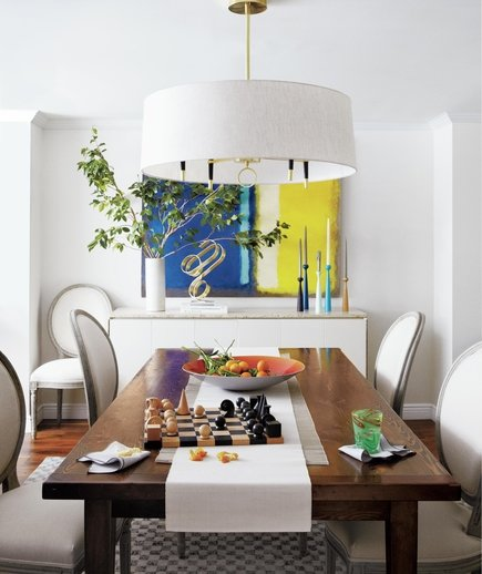 on dining room tables chandeliers and more what is feng shui real simple. Black Bedroom Furniture Sets. Home Design Ideas