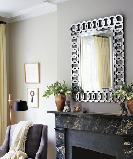 On mirrors windows and walls what is feng shui real simple - Mirror in hallway feng shui ...