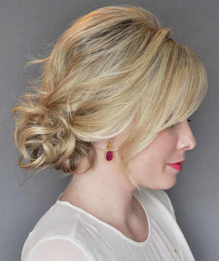How To Do The Messy Side Updo With A Twist