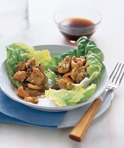 Chicken and Cashews in Lettuce Wraps | Easy Chinese Recipes - Real ...