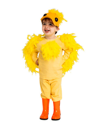 Yellow duckling costume 24 homemade kids halloween for Simple halloween costumes for kids