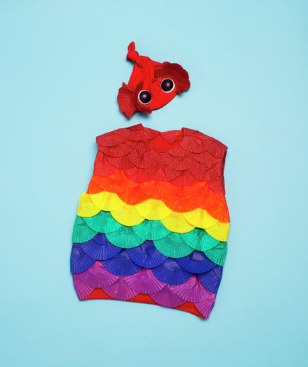How to make a fish costume for kids for How to make fish
