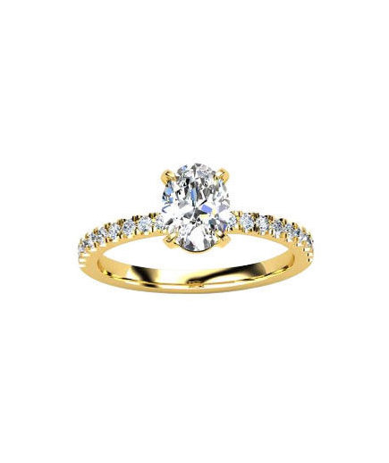 Gemvara Oval Cut Engagement Ring