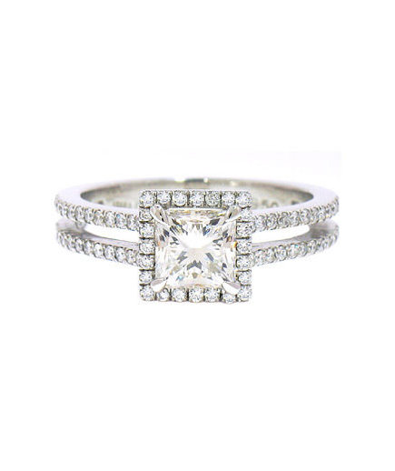 Irina Ferry Platinum Princess Cut Diamond Engagement Ring