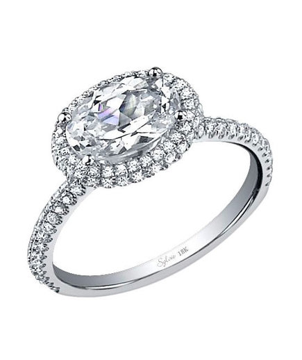 Sylvie Collection SY630 Diamond Engagement Ring
