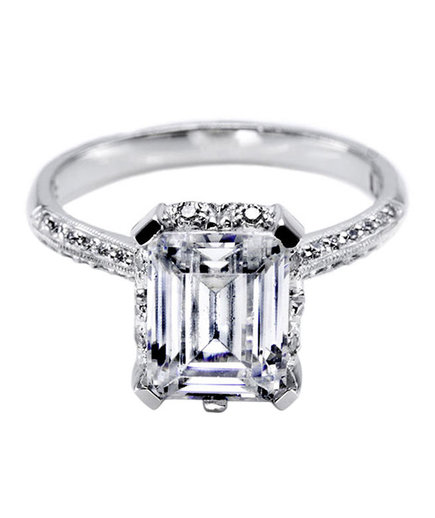 what are emerald cut engagement rings real simple