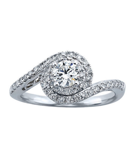 Tolkowsky Round Cut Diamond Engagement Ring for Kay Jewelers