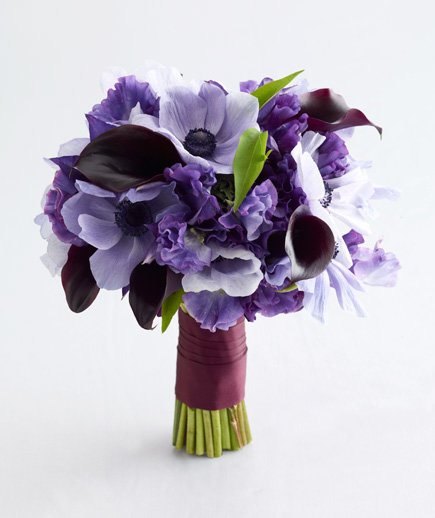 purple and lavender wedding bouquets purple wedding flowers real simple 6871