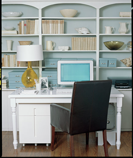 In Your Living Room Carve Out Space For A Home Office Real Simple