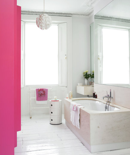 Splash of pink 15 great bathroom design ideas real simple Pink bathroom ideas pictures