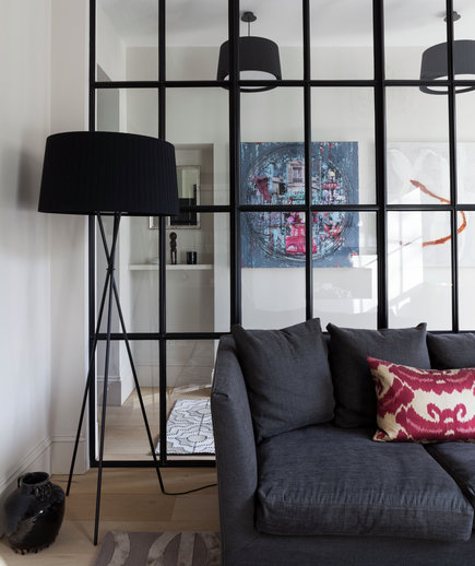 Wall Dividers For Living Room Glass Partition Divider: Creative Decorating Ideas For Small Spaces - Real Simple