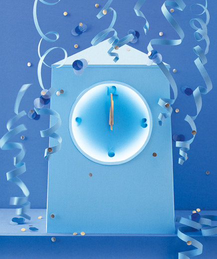 paper-sculpture-new-year-clock