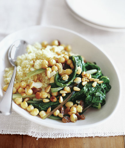 Chicken And Swiss Chard With Couscous In Brodo Recipe — Dishmaps