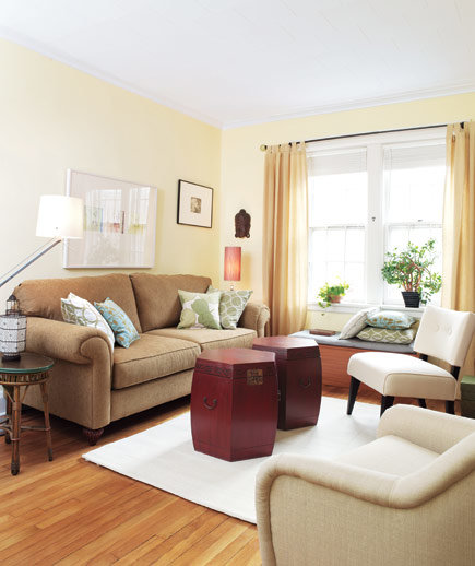 Simple Living Room Decorating Ideas: 14 Living-Room And Dining-Room Makeovers - Real Simple