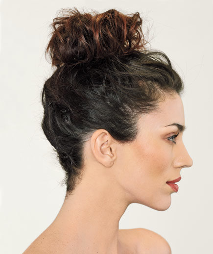 Swell The High Bun 5 Easy Hairstyles Real Simple Hairstyle Inspiration Daily Dogsangcom