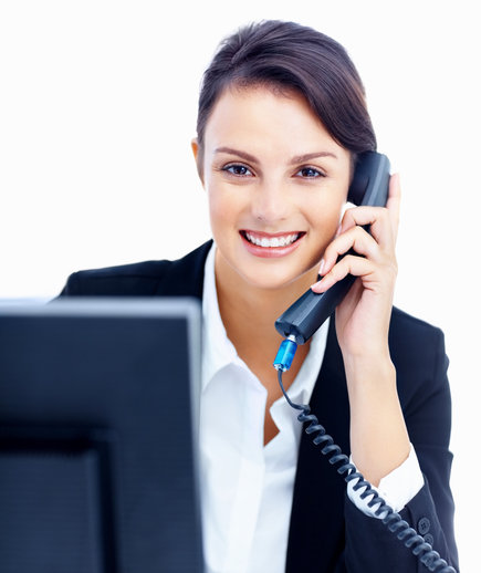 smiling-woman-phone-computer
