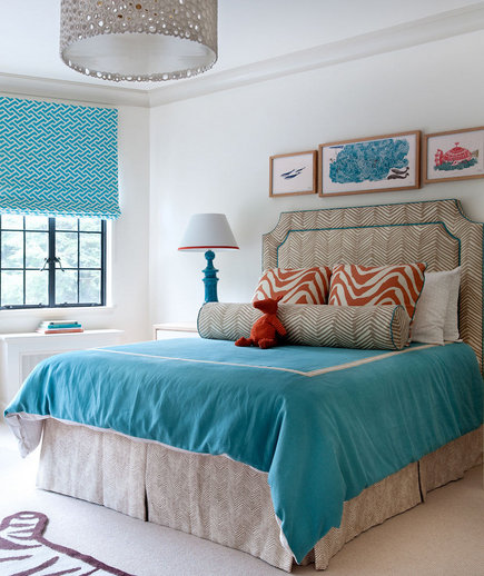 turquoise bedroom decor a touch of turquoise 30 modern bedroom ideas real simple 13613