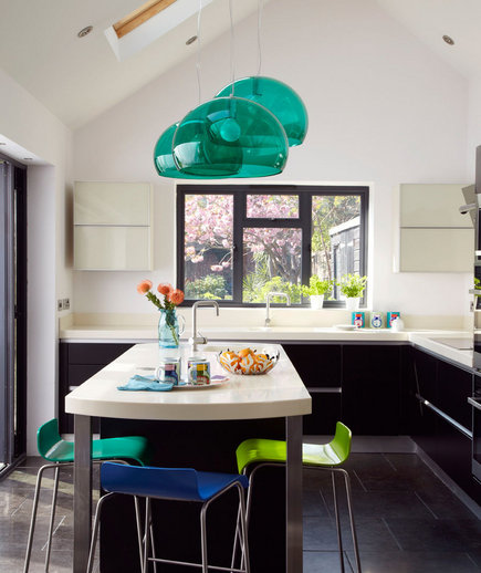 Turquoise Kitchen Design Ideas ~ Touch of turquoise amazing kitchen decorating ideas