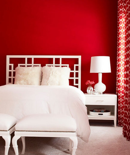 charming design red wall bedrooms | Red Hot | 30 Modern Bedroom Ideas - Real Simple