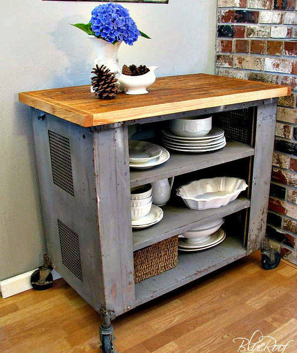 Industrial Kitchen Cart: 7 DIY Kitchen Islands To Really Maximize