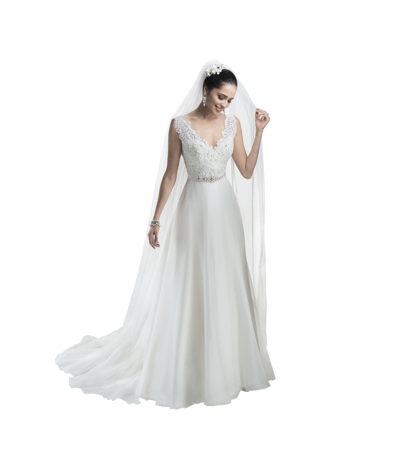 Maggie sottero debra stunning off the rack wedding for Real simple wedding dresses
