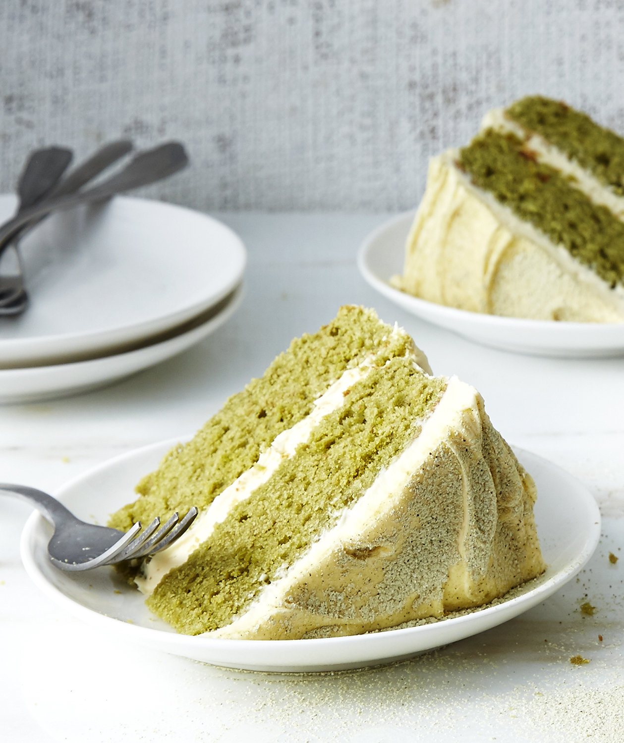 matcha cake with vanilla buttercream real simple. Black Bedroom Furniture Sets. Home Design Ideas