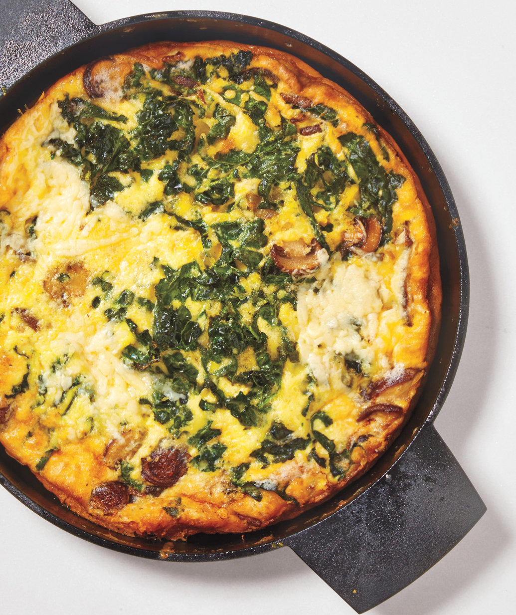 Mushroom, Kale, and Cheddar Frittata | Real Simple
