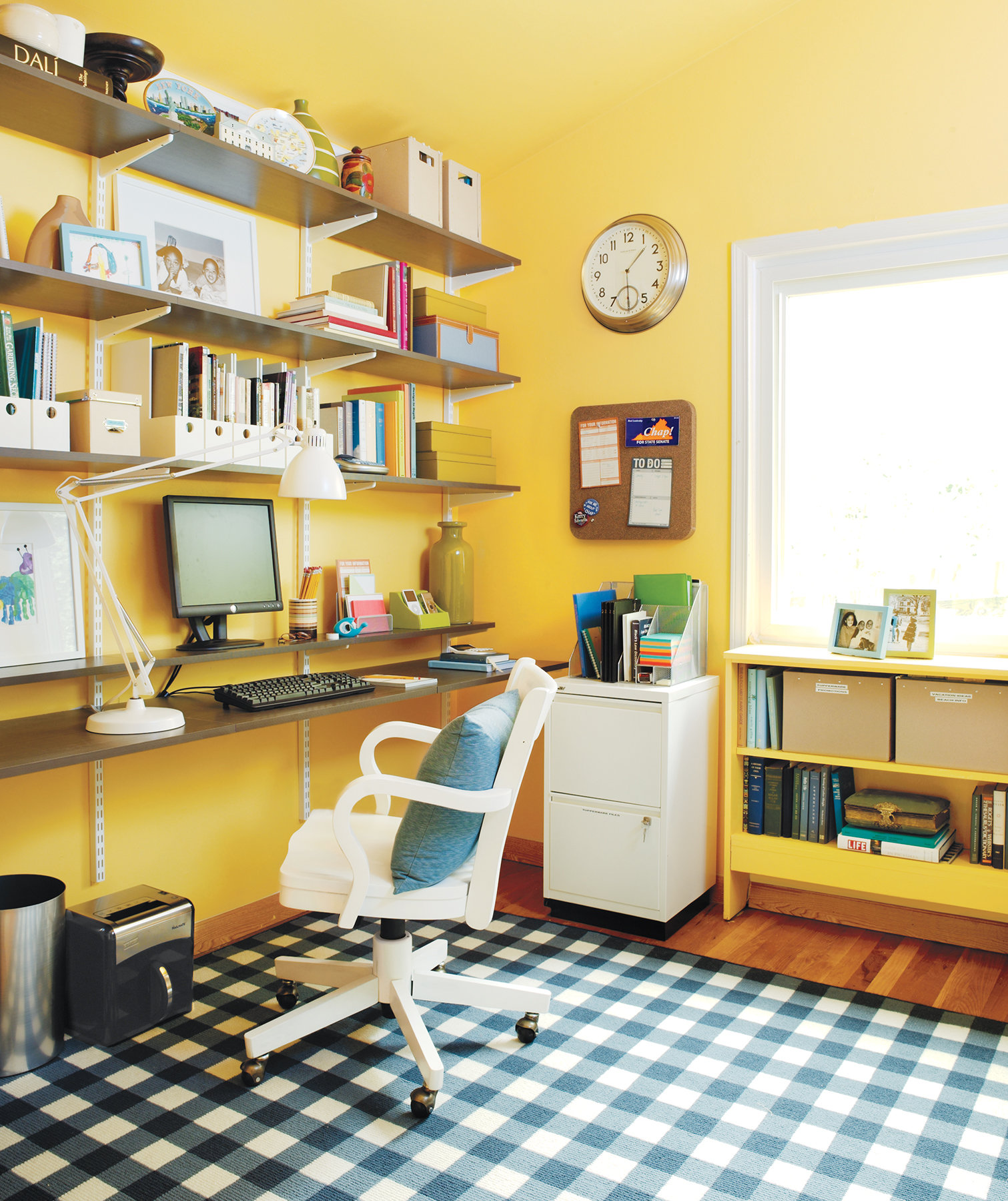 21 ideas for an organized home office real simple Organizing your home