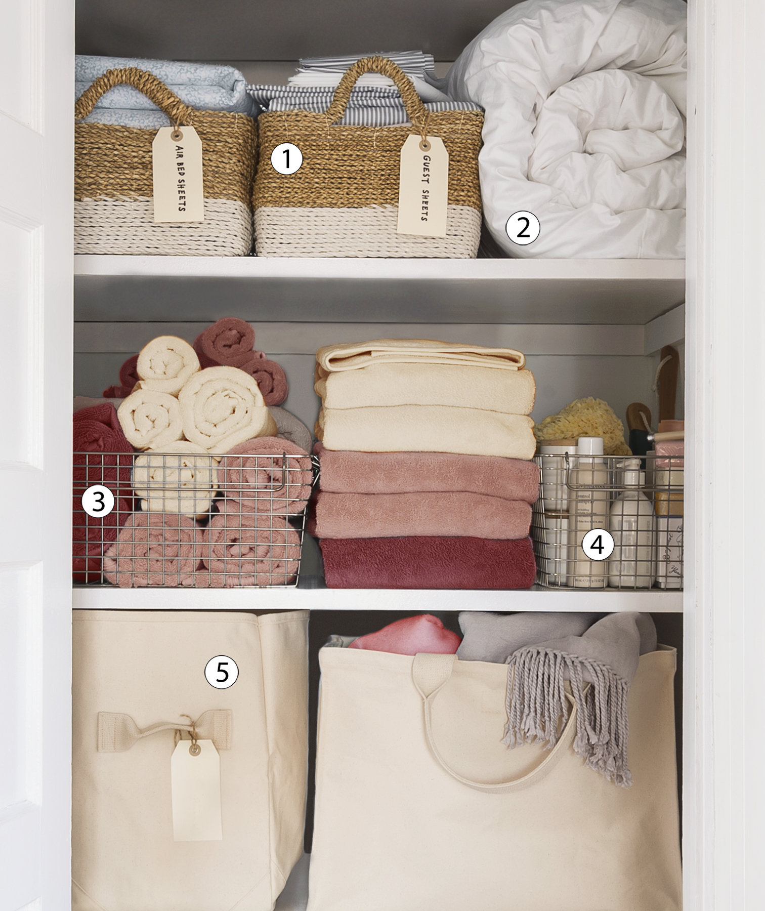 How To Organize Linen Closet. Organizing