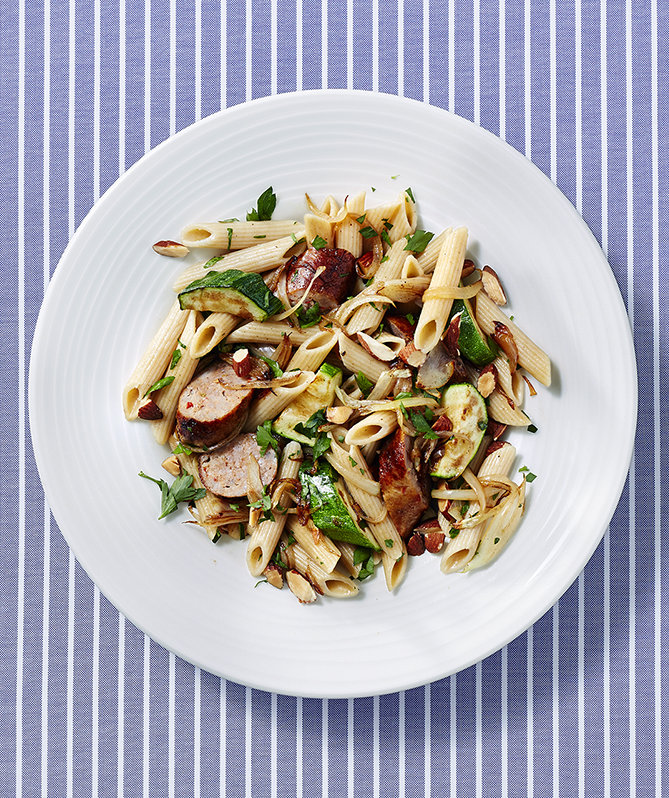 penne-spicy-sausage-zucchini